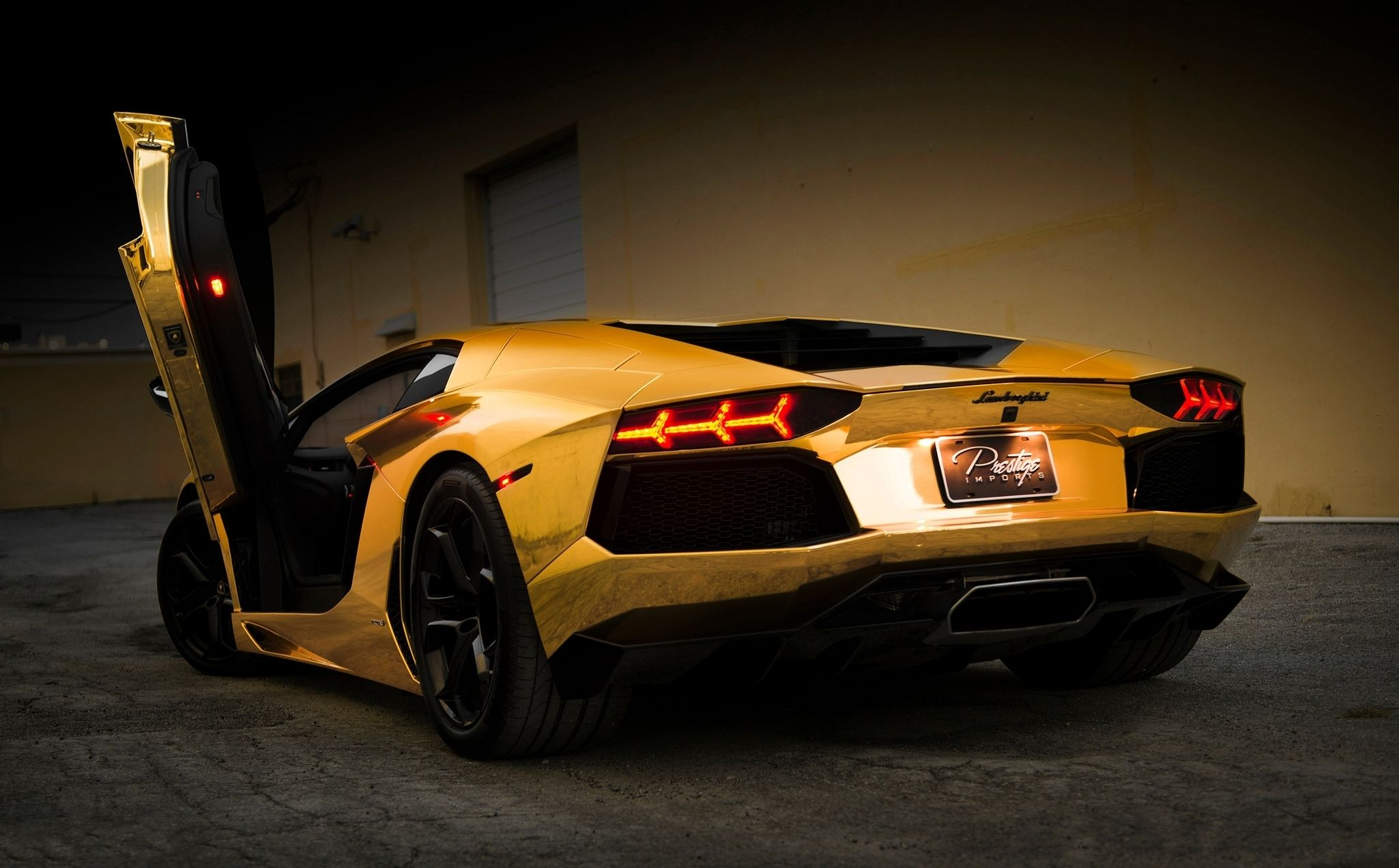 Gold Car Wallpapers: Lamborghini Aventador Car Wallpapers, Http://www