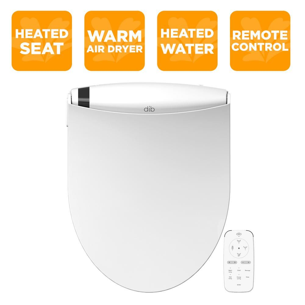 Biobidet Dib Special Edition Electrical Bidet Seat For Elongated Toilet In White Dib 850 Bidet Toilet Seat Toilet Home Depot