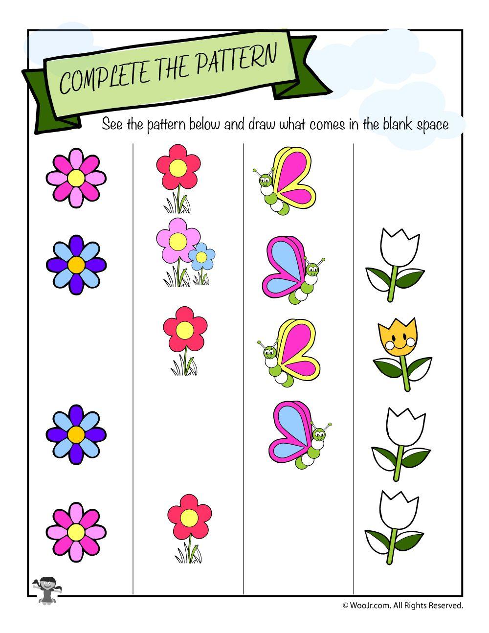 Find the Pattern Spring Worksheet