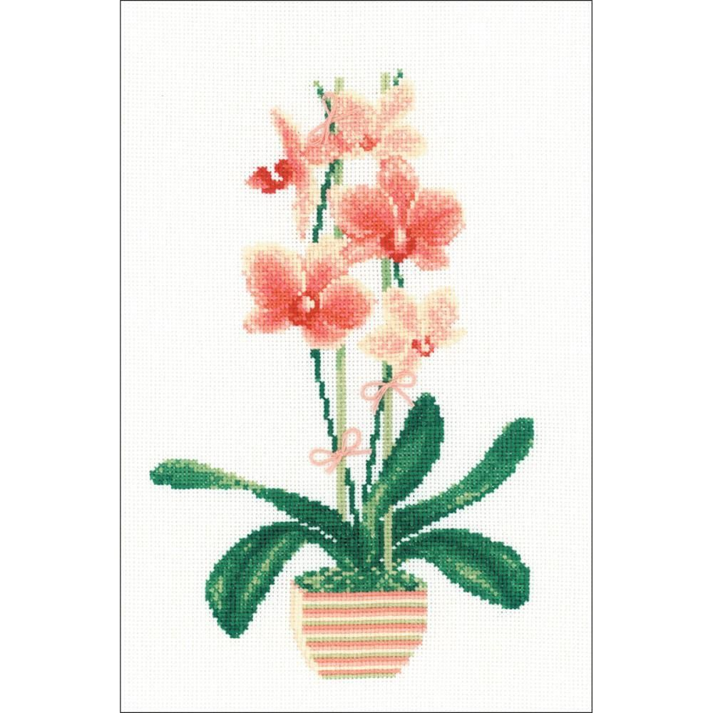 Yellow orchid counted cross stitch kit yellow orchid counted