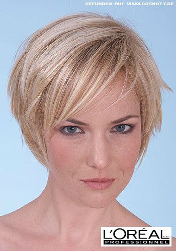 Kurzer Stufen Bob Mit Blonden Highlights Hair Bob Frisur Bob