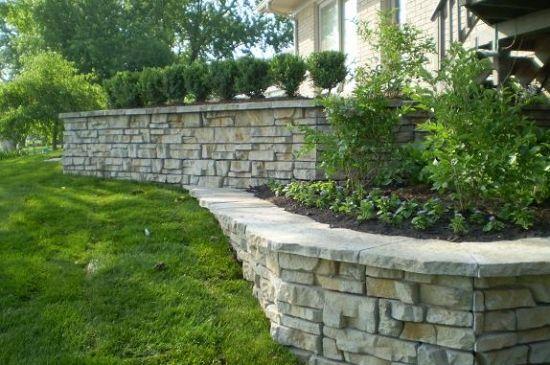 build a stone planter wall | Retaining Wall Photos - Decorative ...