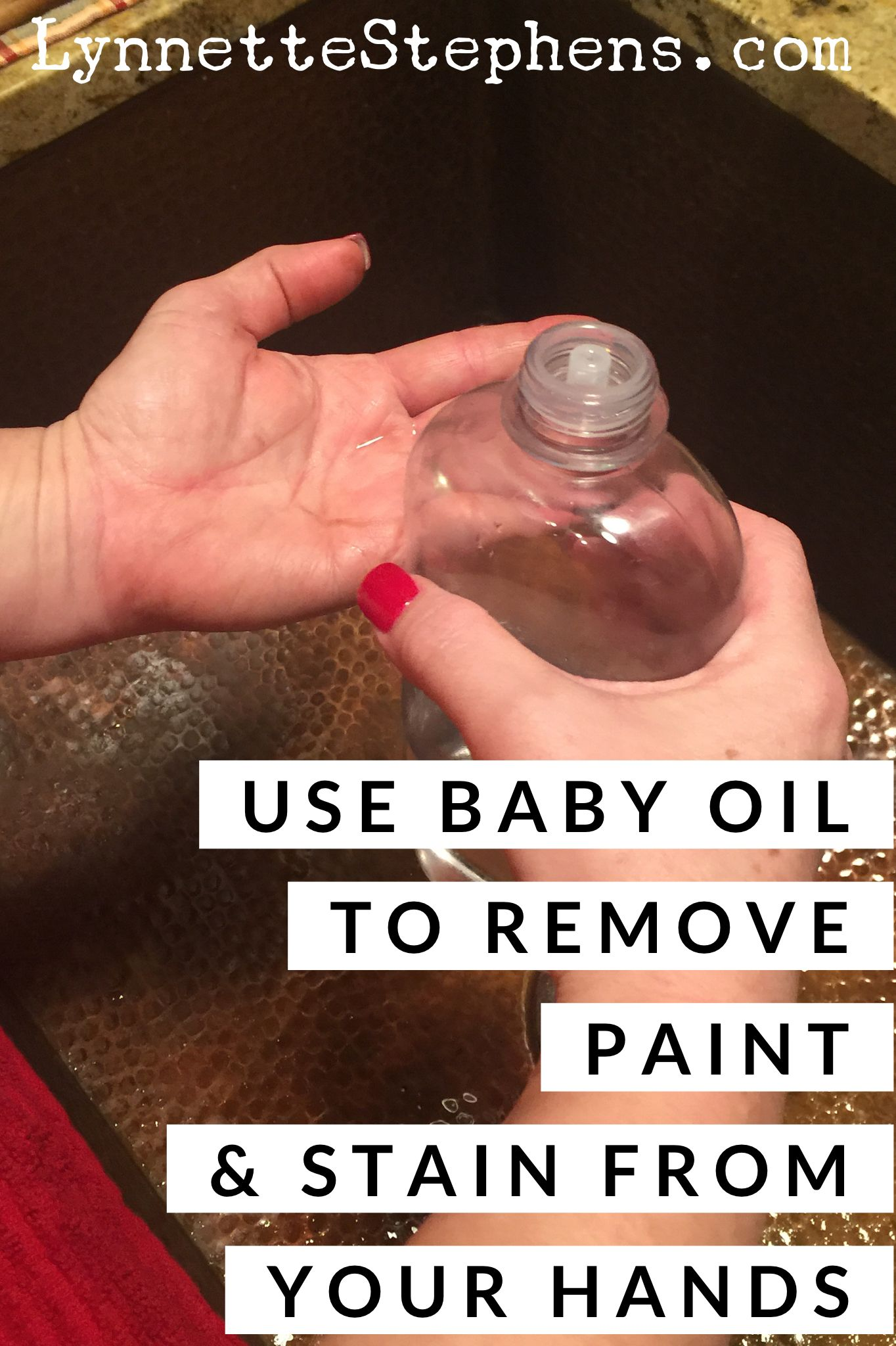 To Remove Things Like Paint And Stain From Your Hands Just Massage