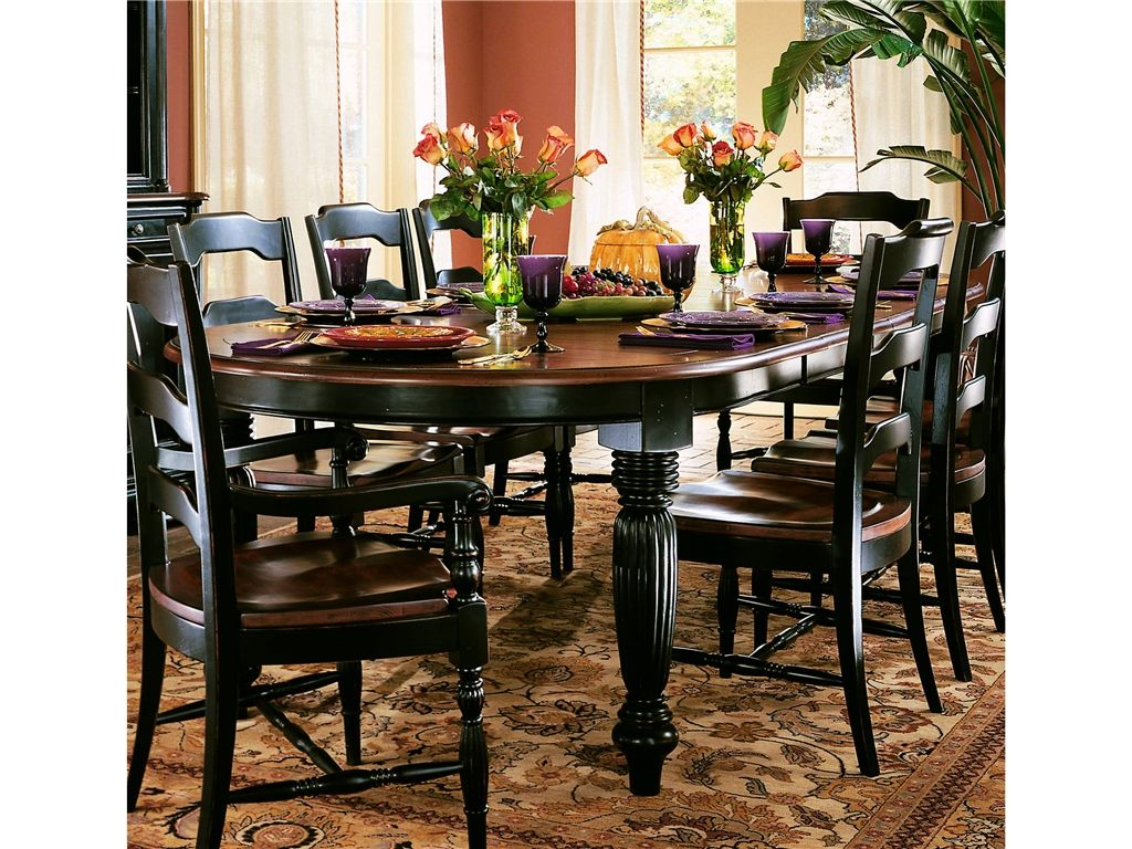 "Hooker Furniture Indigo Creek Oval Dining Table W 220"" Leaves 332 Simple Oval Dining Room Table Sets Review"