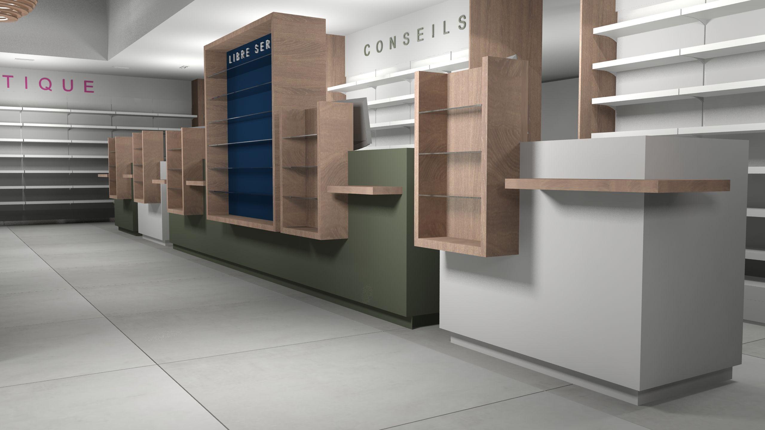 Amenagement Pharmacie Avec Comptoir Et Armoire A Pharmacie Espace Conseils Et Ordonnances Home Home Decor Shelves