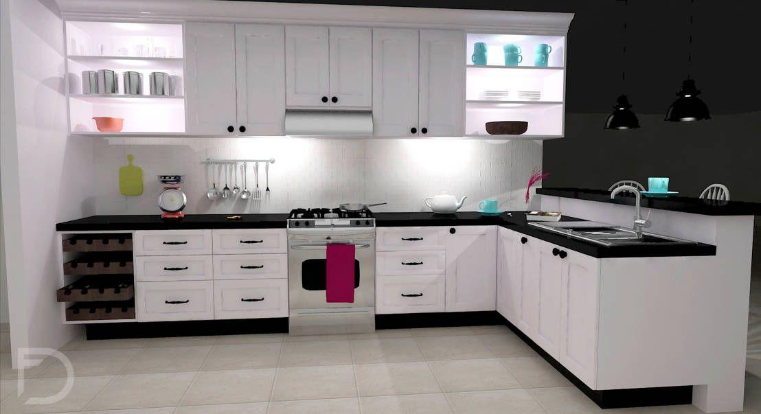 Cocinas integrales - ¡ 10 ideas para modernizarlas ! - cocinas en l