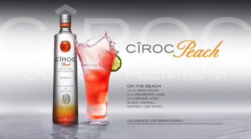 Great Cocktail Recipes Ciroc Summer Recipes Mixed Drinks Recipes Ciroc Peach Peach Vodka