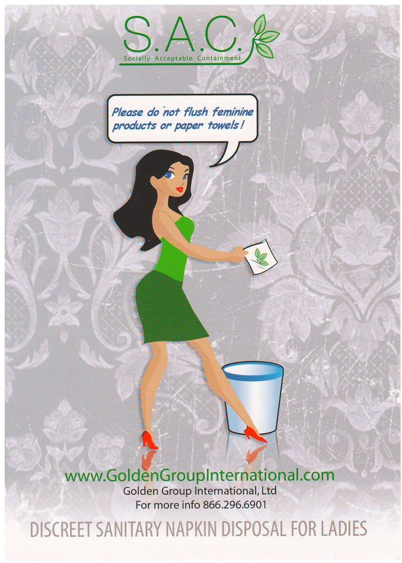 S A C Please Do Not Flush Sign Lady Grace Bathroom