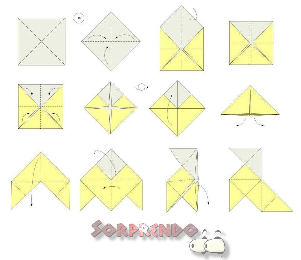 Como Hacer Una Pajarita De Papel Animales De Origami Origami Arte Del Origami