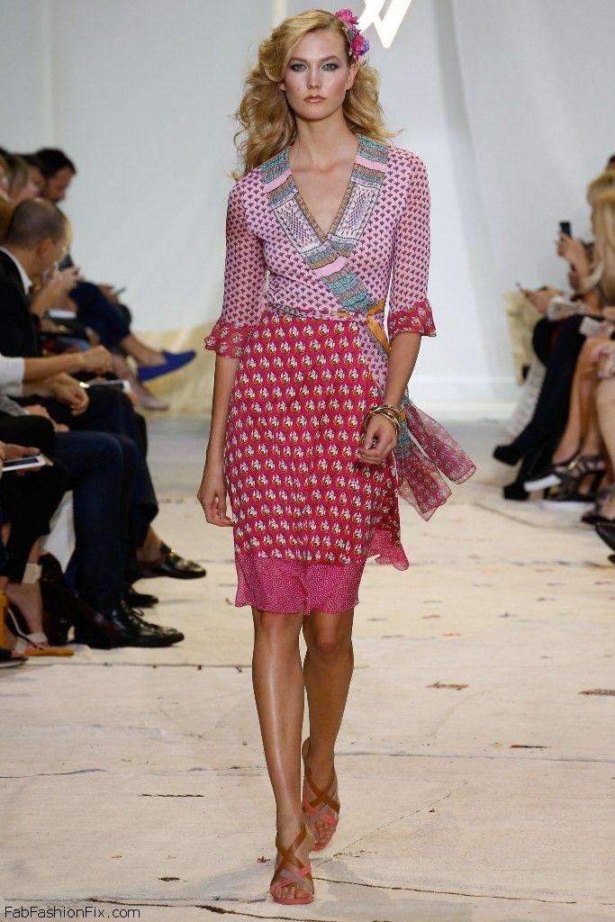 Karlie Kloss for Diane von Furstenberg spring/summer 2016 collection - New York fashion week. #nyfw