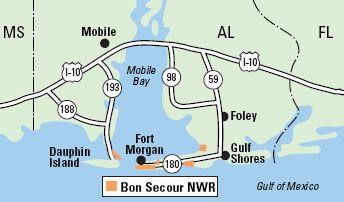 Bon Secour National Wildlife Refuge --Vicinity Map