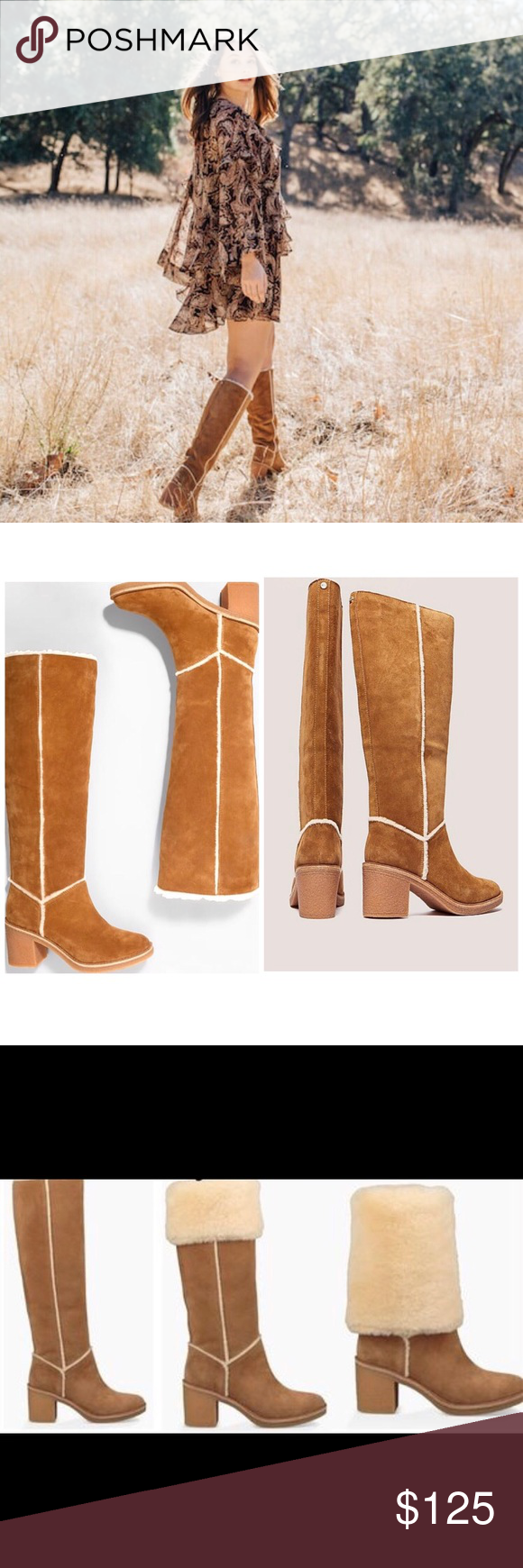 23aac4f9d01 UGG 'Kasen' Tall Boot in Chestnut ✨NEW A crepe-like rubber outsole ...