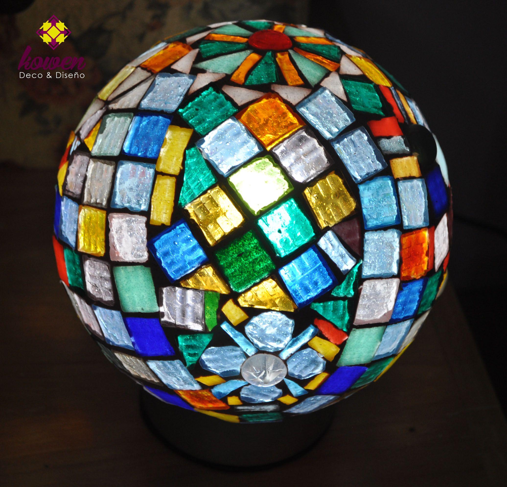 Lampara en Mosaiquismo   talleres, mosaiquismo, mosaicos, luminarias