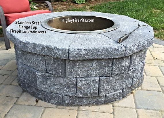 36 Diameter Stainless Steel Fire Pit Ring Liner Insert Stainless Steel Fire Pit Fire Pit Essentials Fire Pit Plans