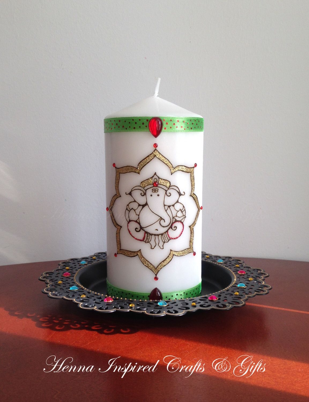 Lord Ganesh, Decorative Candle, Hindu God, Lord Ganesha Candle gift ...