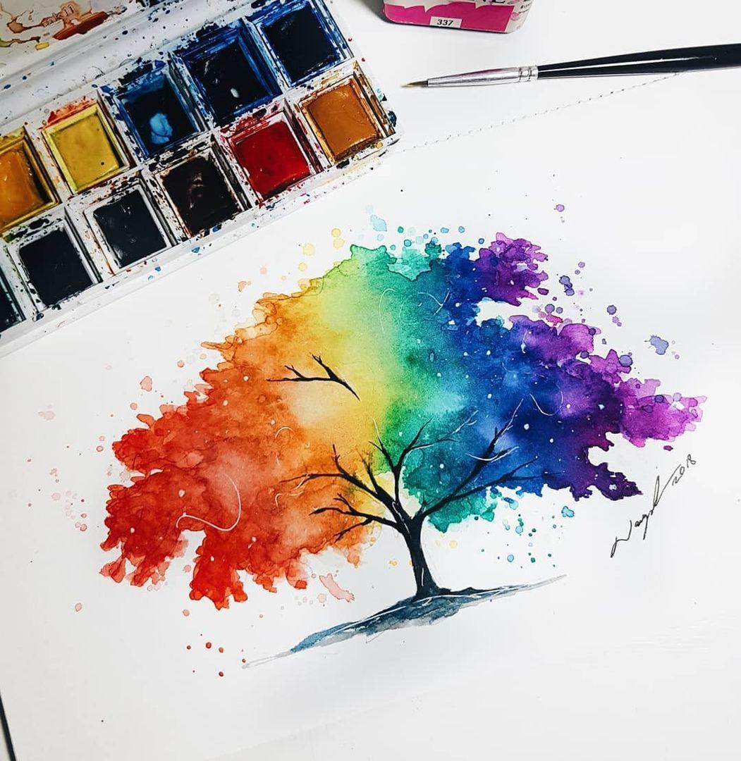 Poeticos Peintures A L Aquarelle Faciles Aquarelle Facile