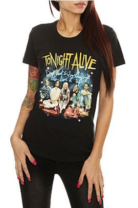 cf579792 #TonightAlive have a new T-shirt in stores & online at #HotTopic! Grab this