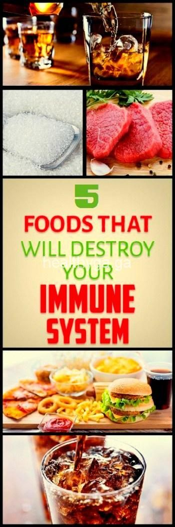 These 5 Foods That Will Destroy Your Immune System!!!  #wieghtloss  #fitness