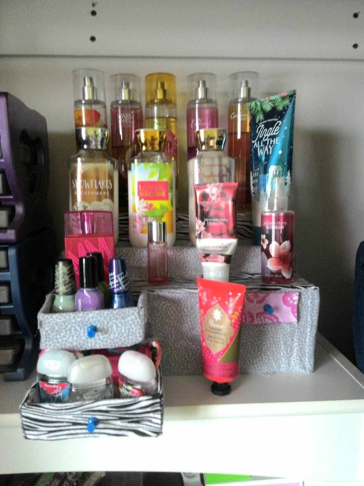 Diy Perfume Lotion Organizer Out Of Cardboard Boxes Diy Perfume Organizer Diy Perfumed Lotion Perfume Organization