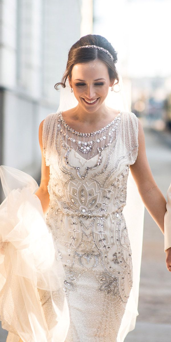 Silver Vintage-Inspired Bridesmaid Dresses