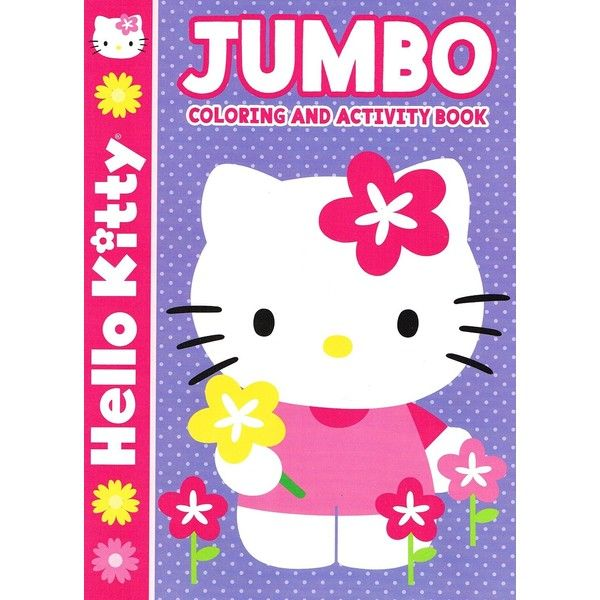 Hello Kitty Jumbo Kids Coloring And Activity Book Set Set Of 2 8 45 Liked On Polyvore Featuring To Hello Kitty Birthday Hello Kitty Coloring Hello Kitty