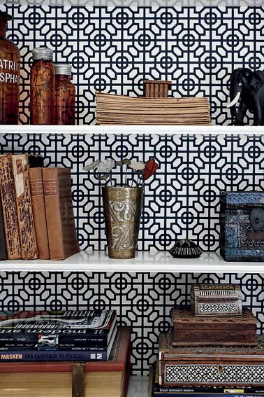 patterns behind open shelving
