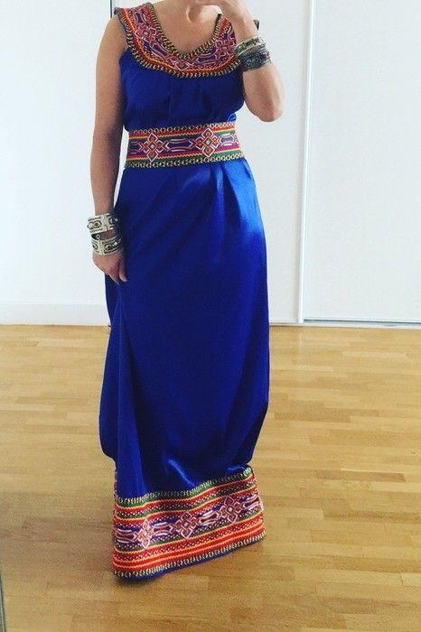 Beau bleu robe kabyle