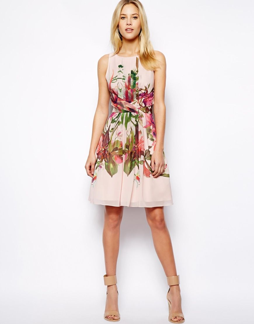 09faa97540ae Ted Baker Symmetrical Orchid Print Dress | Fashion | Ted baker dress ...