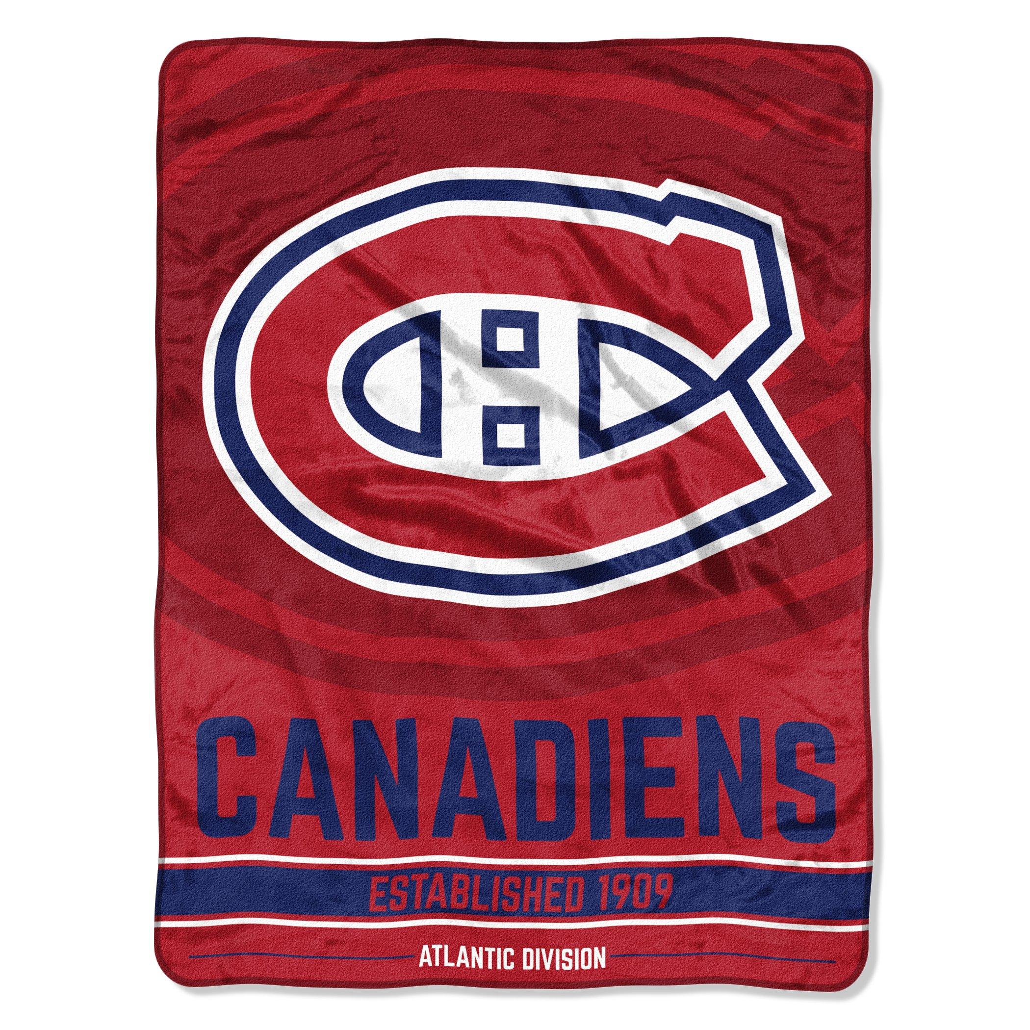 Multi Color Officially Licensed NHL Break Away Micro Raschel Throw Blanket