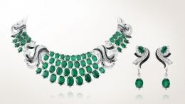 Lierre necklace and earrings