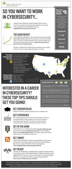 Here S Some Interesting Facts On Jobs In The Cybersecurity Industry Via Staysafeonline Org Cyber Security Computer Security Cybersecurity Infographic