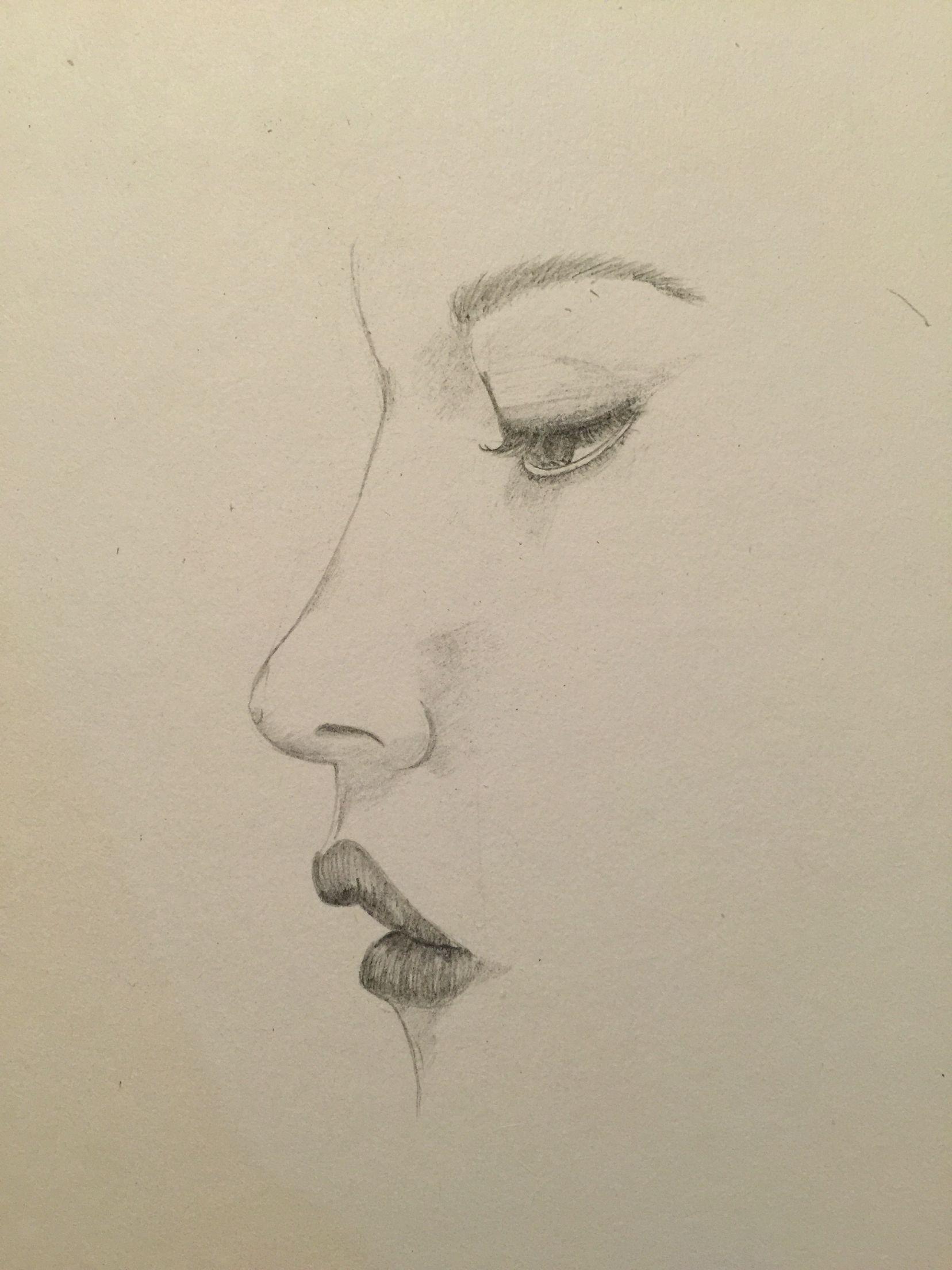 Perfil mujer dibujo a lápiz  44a58503b0b