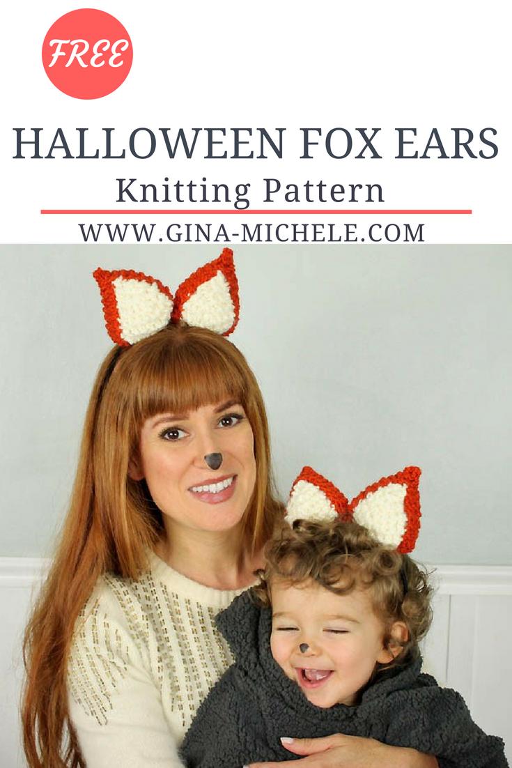 Halloween Fox Ears Knitting Pattern | Free Knitting Patterns from My ...