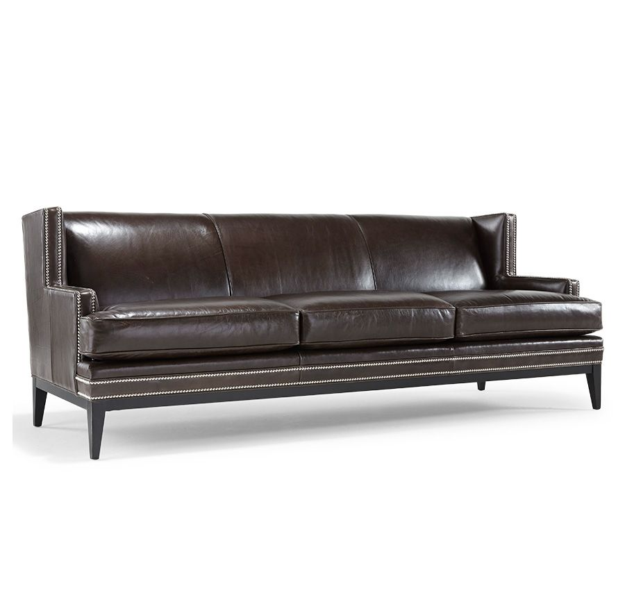 TASHA 95u201d SOFA LEATHERu003cBRu003e[available Online And In Stores] · Mitchell GoldRustic  ...