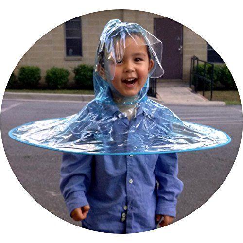 Kids Hands Free Foldable Wearable Raincoat Umbrella Hat F Kids Hands Foldables Raincoat