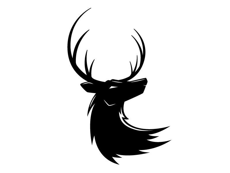 Deer Head Icon Logo Royalty Free Vector Image Vectorstock Kepala Rusa Hewan Seni