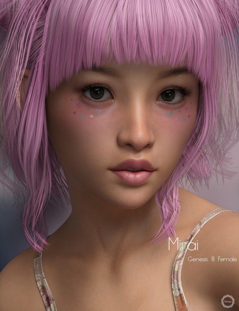 P3D Mirai for Genesis 8 Female | 3D Models and 3D Software
