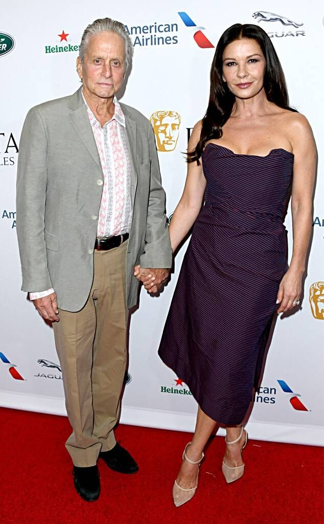 Michael Douglas & Catherine Zeta-Jones from Celebs at the 2019 BAFTA TV Tea Party