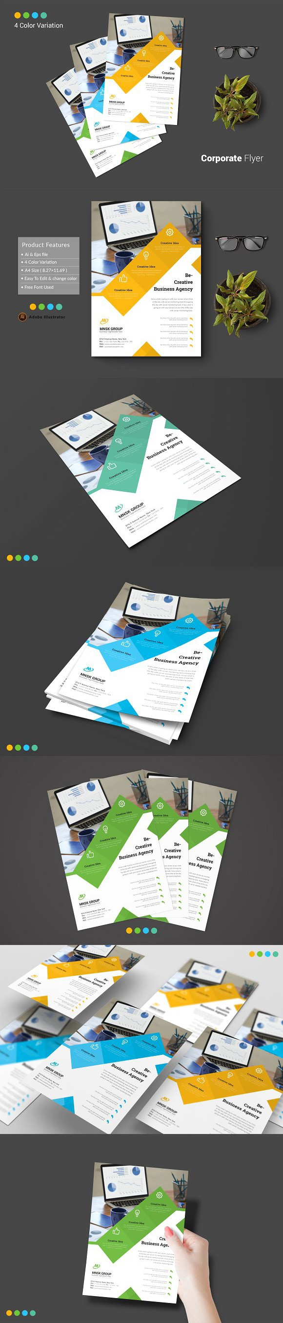 Flyer Powerpoint Templates Powerpoint Templates Pinterest