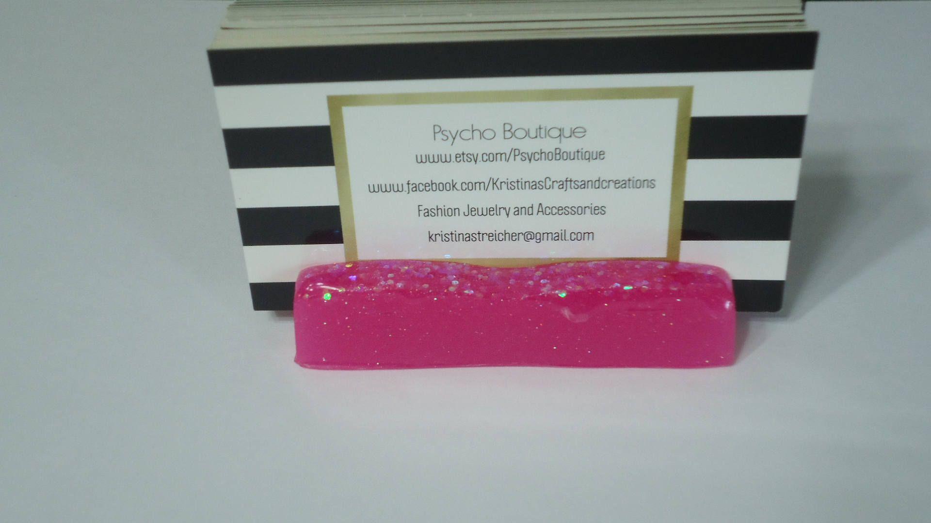 Business Card Holder / Phone Holder for Desk / Glow in the Dark ...
