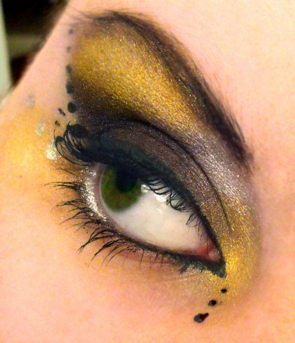 maquillaje ojos abeja Disfraz abeja maquillaje Pinterest