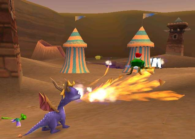 Bilderesultat for Spyro The Dragon PS1