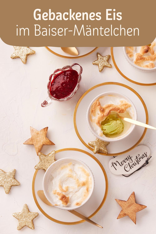 Gebackenes Eis im Baiser-Mäntelchen #fingerfoodrezepteschnelleinfach