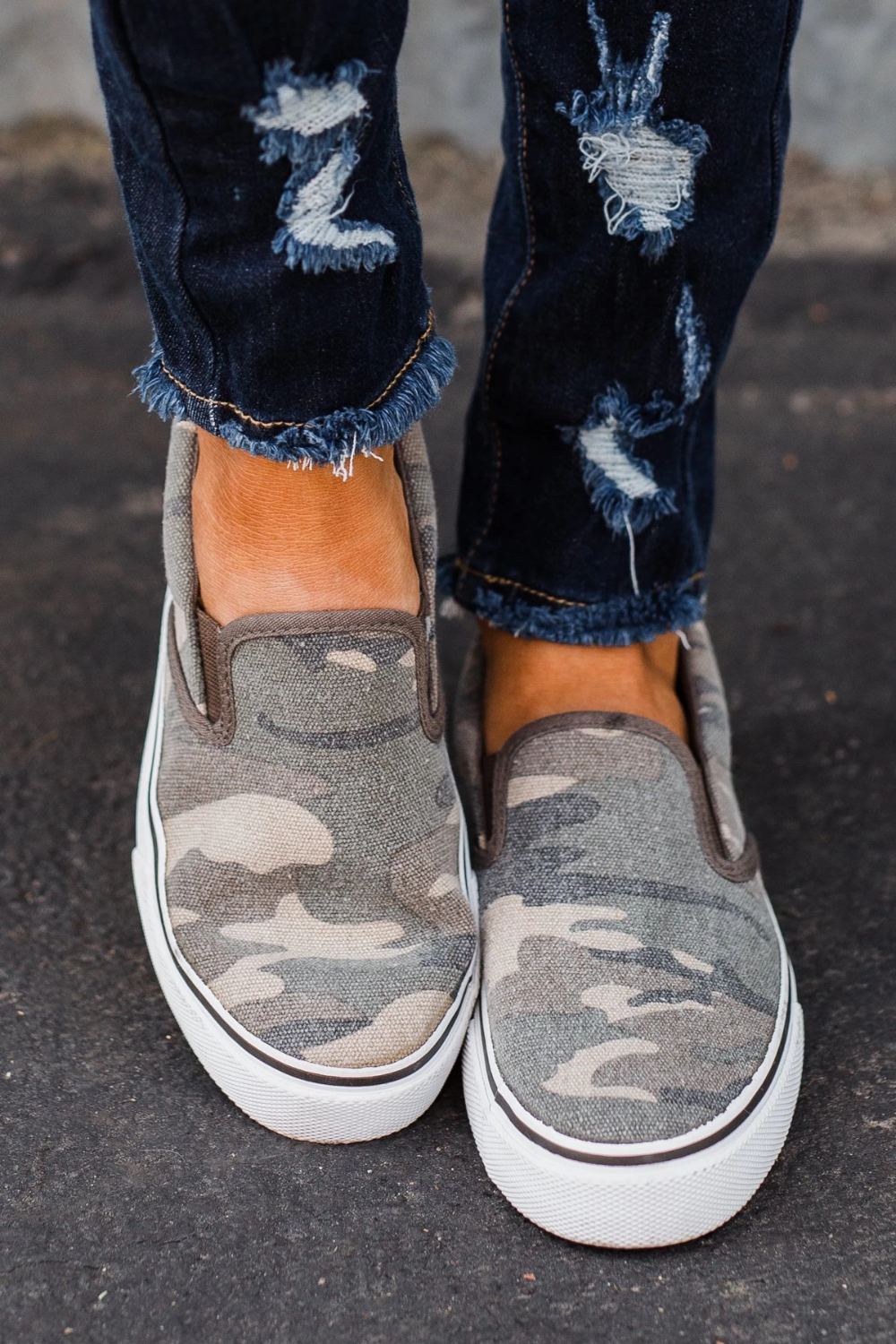 slip on shoe Sugar Flicker Shoes- Washed Camo