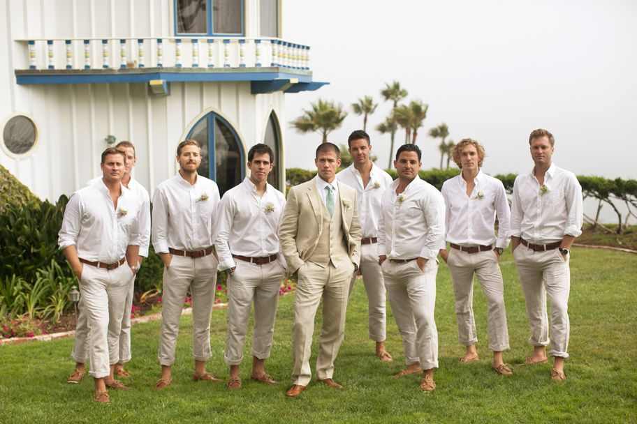 12 Grooms with Wedding Style That's On Point | Beach wedding groom, Beach wedding groomsmen ...