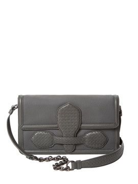 e7a02094065e Microintrecciato Small Leather Shoulder Bag from Bottega Veneta Handbags on  Gilt