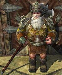 Torfi Hammerhorn  can be found guarding Thurûm in The North Downs.