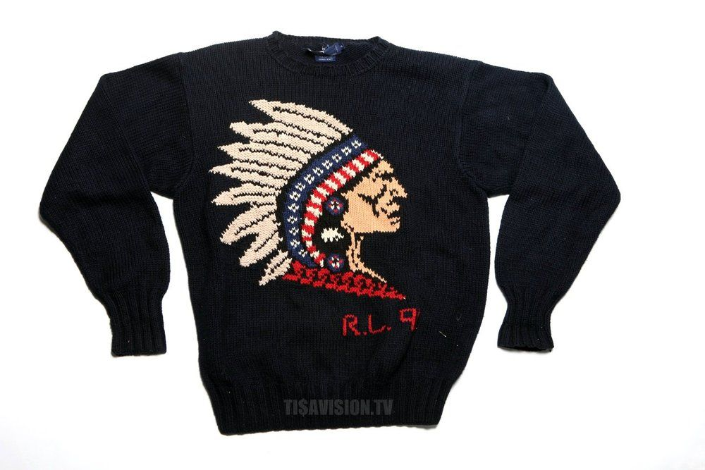 TI$Δ VINTAGE SHOP , POLO INDIAN HEAD SWEATER