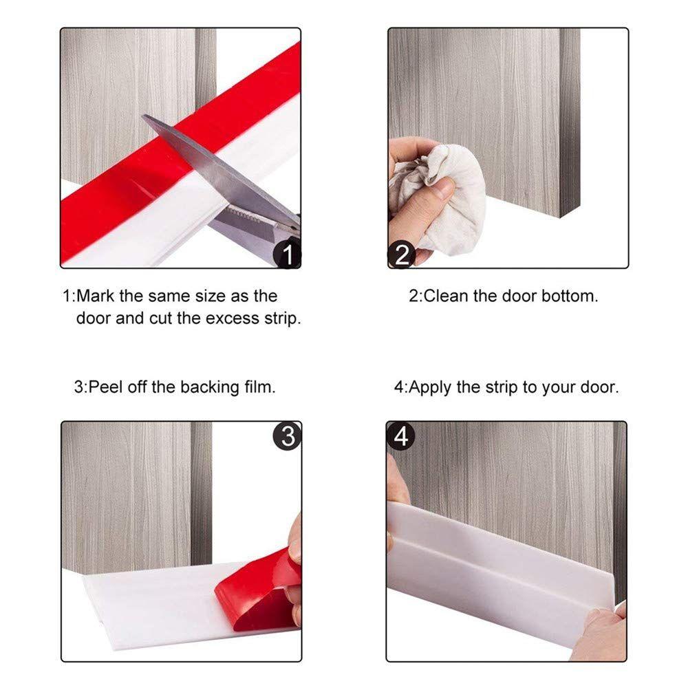 2 Pack Door Draft Stopper Door Sweep Under Door Draft Blocker Soundproof Door Bottom 2 W X 39 L White Ad Stopper Spon Draft Stopper Sound Proofing Home