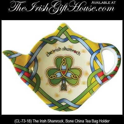 Shamrock Tea Bag Holder Tea Accessories Celtic Colors